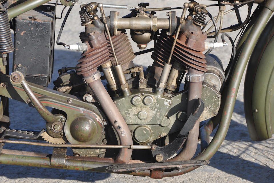 Original and authentic American classic with just 4400 miles,1928 Excelsior-Henderson Super X Engine no. A6032