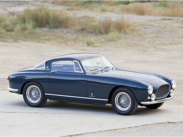 One of just two examples built with factory competition features,1955 Ferrari 250 Europa GT Alloy  Chassis no. 0389 GT Engine no. 0389 GT