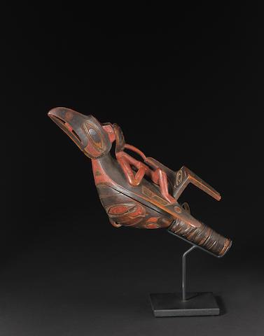 A Northwest Coast raven rattle