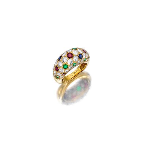 A gem-set, diamond and 18K gold ring, Van Cleef & Arpels
