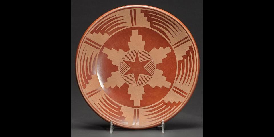 A San Ildefonso redware plate