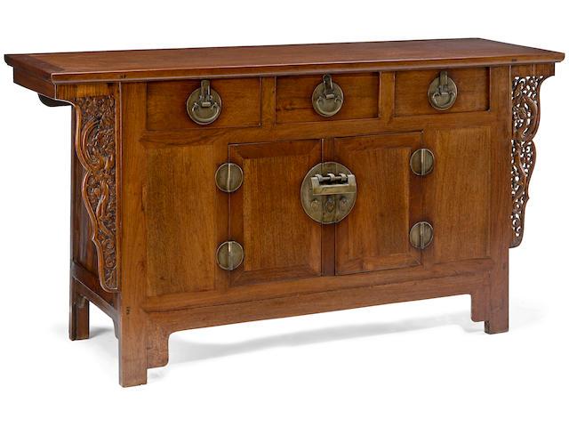 A huali three-drawer altar coffer Republic Period