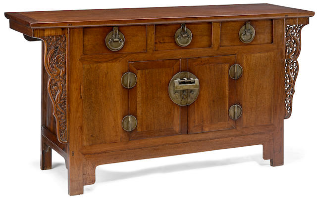 A huali three-drawer altar coffer Republic Period