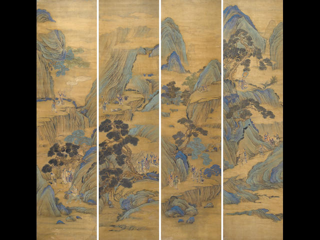 Anonymous (late 19th/early 20th century) Landscape with Daoist Celestials