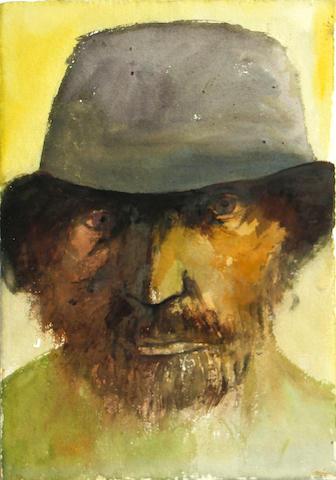 Leonard Baskin (American, 1922-2000) Polish Jew, 1979    22 x 15 1/2in unframed