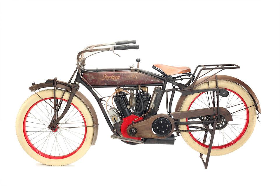 1914 Indian 7HP 61ci Twin Engine no. 86F028