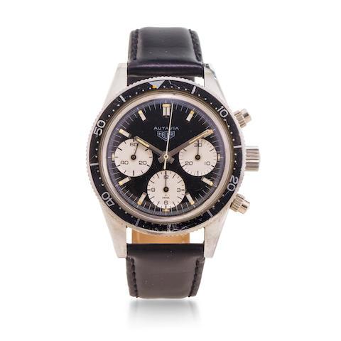 Heuer. A stainless steel manual wind chronograph wristwatchAutavia, Ref:2446 M, Case No.85728, Circa 1967