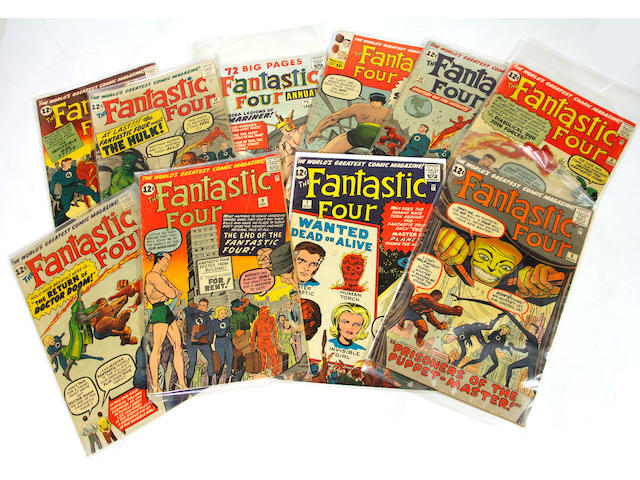FANTASTIC FOUR. Lot of approx. 30 early issues, 1960s