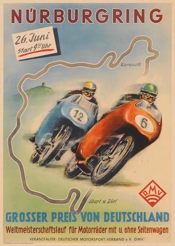 A Nurburgring poster, 1955,