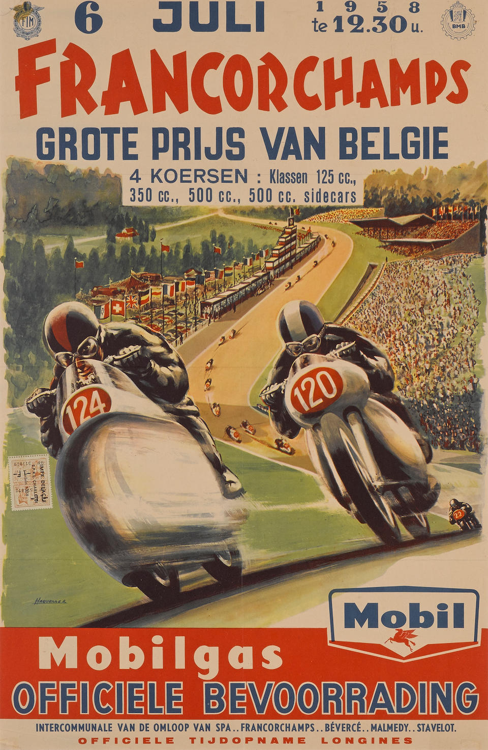 A lot of two Francorchamps posters, 1958,