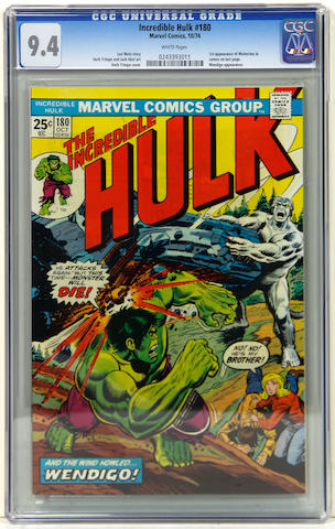 INCREDIBLE HULK #180 (CGC 9.4)