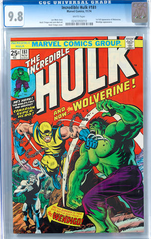 INCREDIBLE HULK #181 [1st full app. WOLVERINE] (CGC 9.8)
