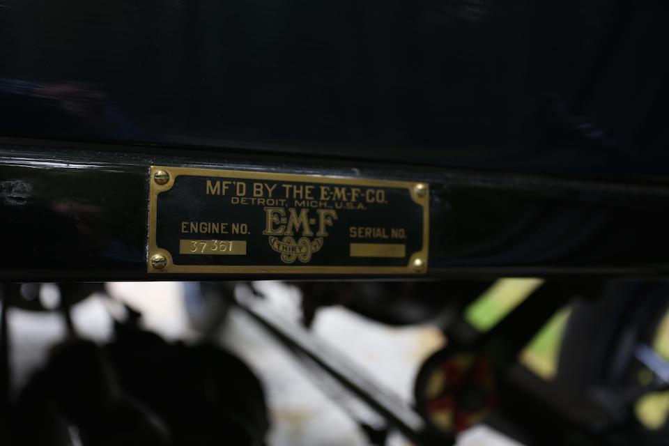 <i>Ex-EMF factory racer, 3rd place Tiedeman Trophy at the 1911 Savannah GP</i><br /><b>1911 EMF 30 Racer   </b><br />Chassis no. 37361 <br />Engine no. 37361
