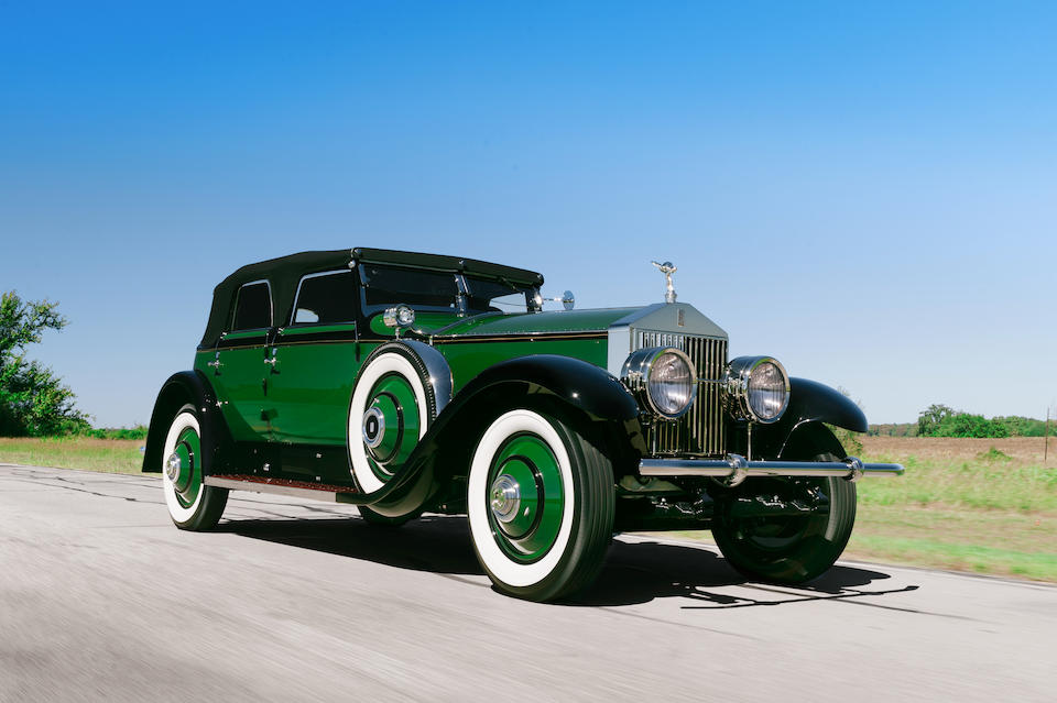 <i>Ex-Marlene Dietrich, Multiple Best in Show winner</i><br /><b>1930 ROLLS-ROYCE PHANTOM I TORPEDO TRANSFORMAL PHAETON  </b><br />Chassis no. S317KP <br />Engine no. 20178