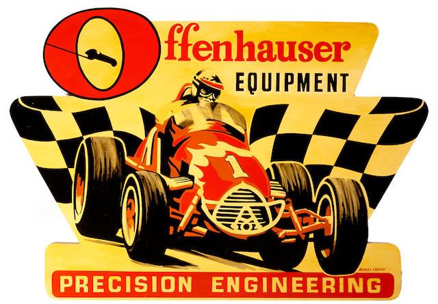 Robert Carter: Offenhauser, 48 x 68 ins.