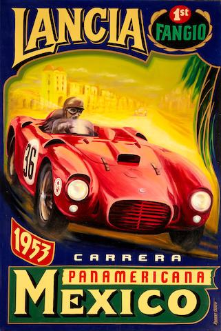 Robert Carter: Mexican Road Race, 48 x 72 ins.