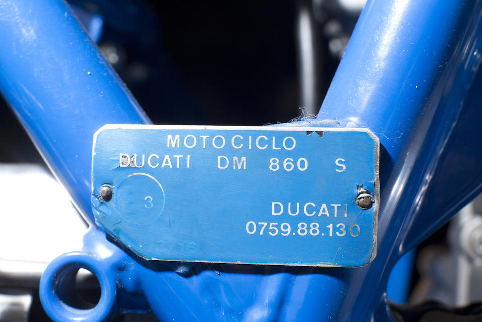 One of three Battle of the Twins 900 SSs built and raced by Biggelaar in Holland,1979 Ducati Biggelaar 864CC 900SSR Frame no. DM860SS 088609 Engine no. DM860 088822