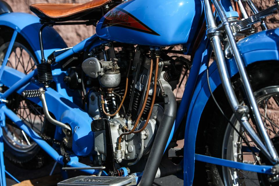 Gwen Banquer recreation,1929 Indian-Crocker 45ci Overhead-Valve Conversion Engine no. GB OHV 01