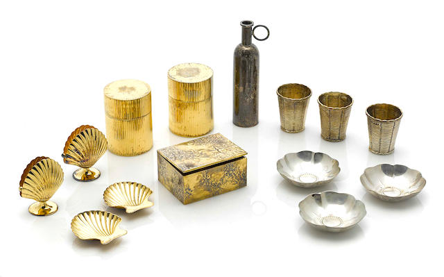 An assembled International group of  sterling silver and silver-gilt accessories retailed by Tiffany & Co.,  20th century