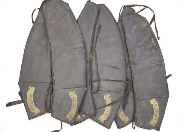 Three Vincent tank covers