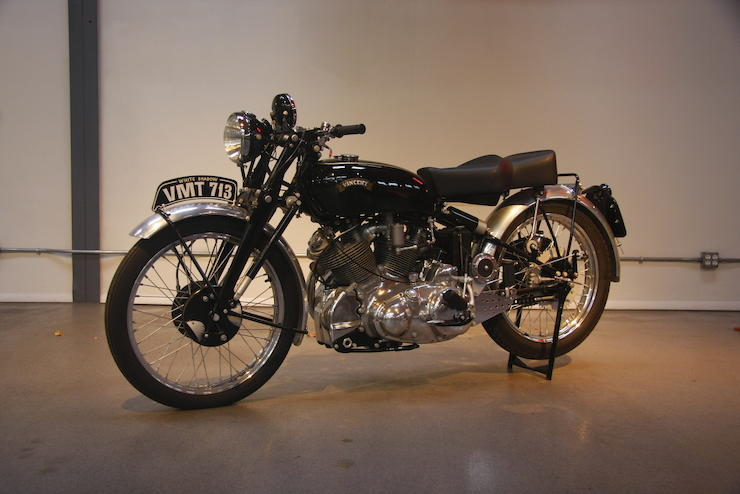 One of only 15 produced,1950 Vincent Series C White Shadow Frame no. RC6376A