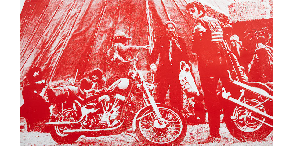 Russell Young (British, born 1960) Easy Rider, 2007 22 x 38 1/2in.