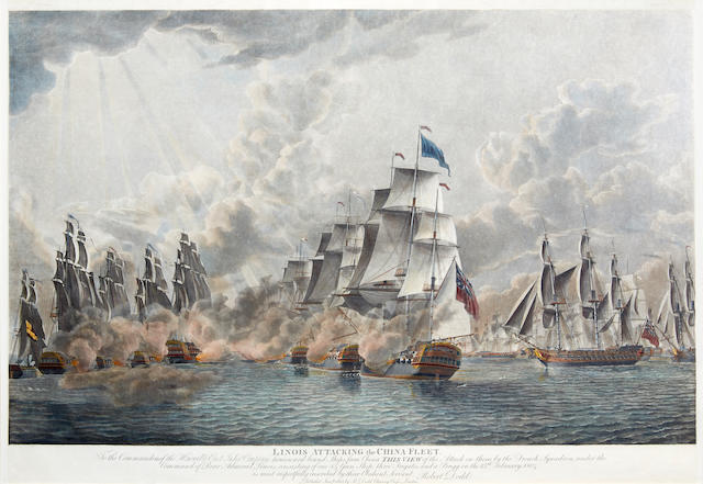A pair of prints relating to the China Fleet action (2)