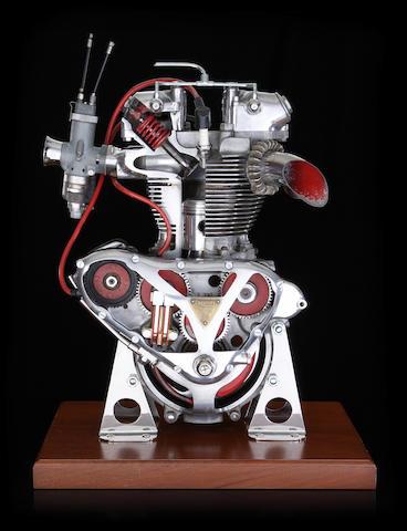 1951 Triumph TR5 Trophy cutaway engine