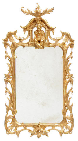 A George III style carved giltwood mirror