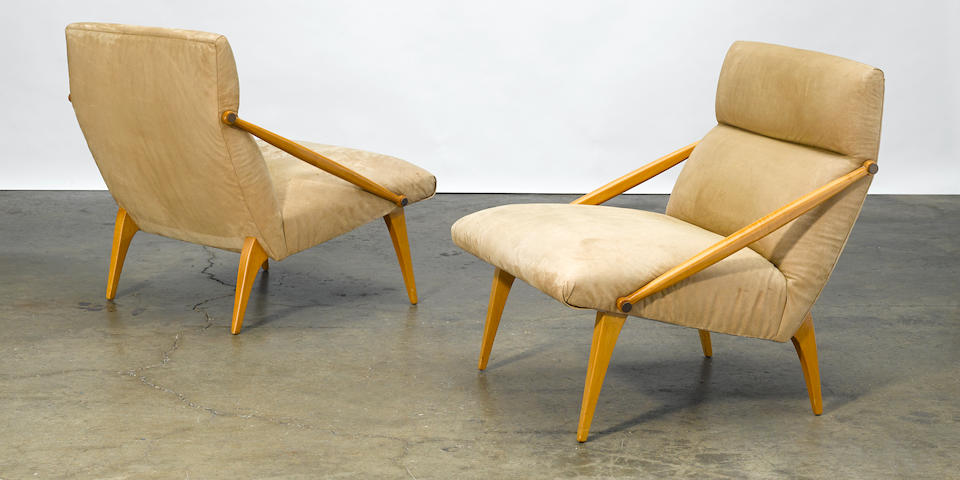 Gio Ponti  Pair of armchairs