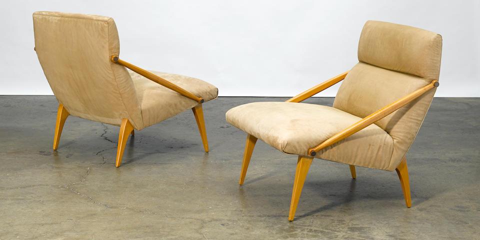 Gio Ponti  Pair of armchairs