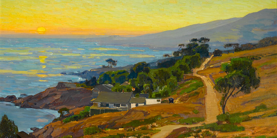 William Wendt (American, 1865-1946) The Old Coast Road 30 x 36in overall: 35 1/2 x 41in (Painted circa 1916)
