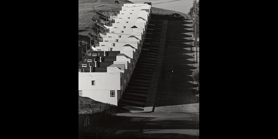 Max Yavno (American, 1911-1985); Keyboard Houses, San Francisco;
