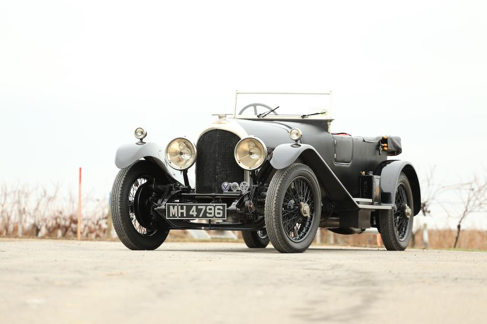 <i>Numbers matching and with original Vanden Plas Sports Coachwork</i><br /><b>1925 BENTLEY 3 LITER FOUR SEATER TOURER  </b><br />Chassis no. 1009 <br />Engine no. 1007