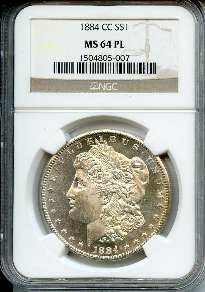 1884-CC $1 MS64 Prooflike NGC