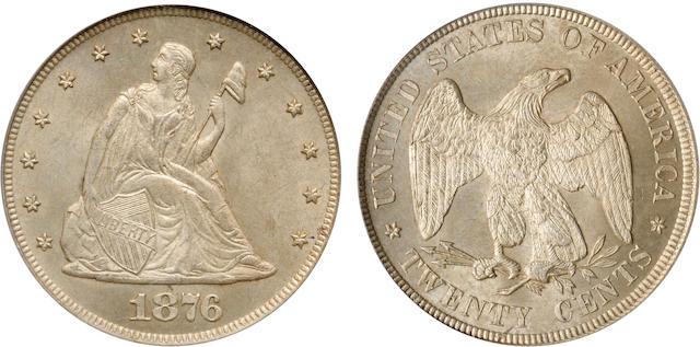 1876 20C MS65 PCGS