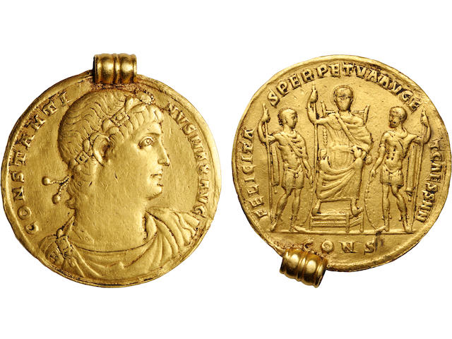 Constantine I, The Great, A.D. 307-337, Gold Medallion of 9 Solidi, Constantinople, circa A.D. 330