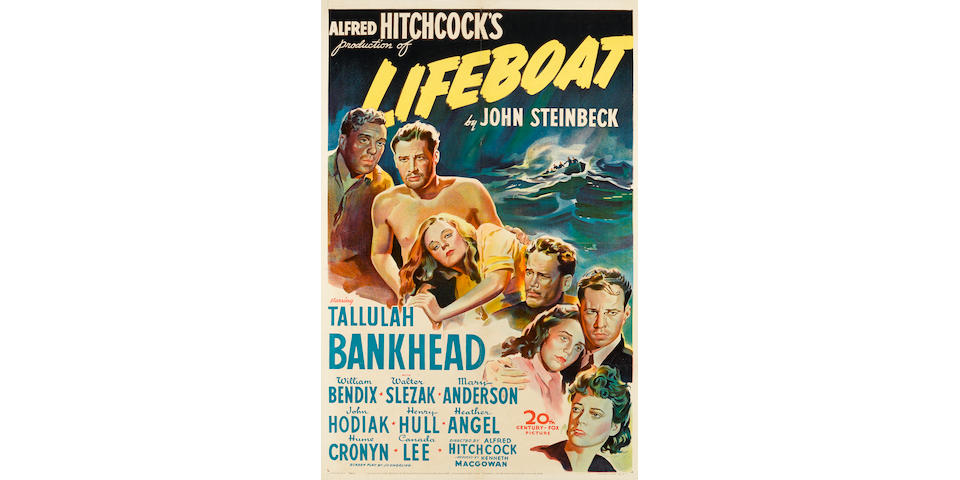 Lifeboat. Twentieth Century-Fox, 1943. One sheet poster.