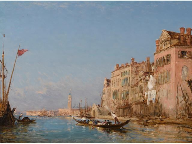 Félix François Georges Philibert Ziem (French, 1821-1911) Quai des Sept Martyrs 20 3/4 x 31 1/2in (52.7 x 80cm)