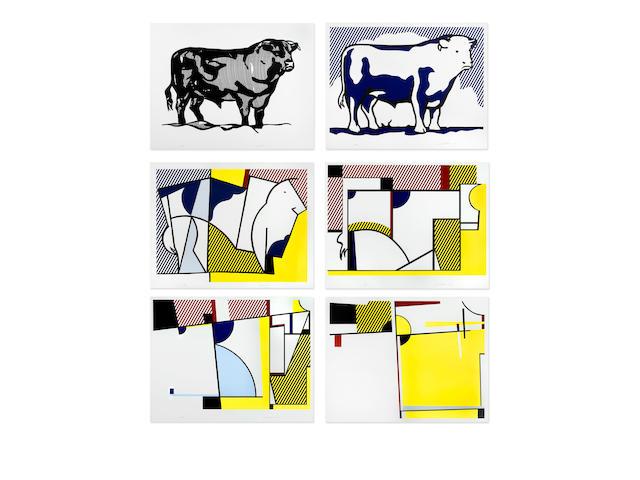 Roy Lichtenstein (1923-1997); Bull Profile Series; (6)