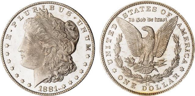 1881-CC $1 MS64 Deep Mirror Prooflike PCGS