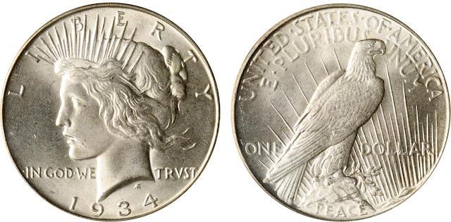 1934 $1 MS65 PCGS