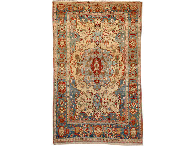 A Mohtasham Kashan rug Central Persia size approximately 4ft. 4in. x 7ft.