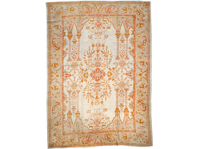 An Oushak carpet West Anatolia size approximately 11ft. 9in. x 16ft. 3in.
