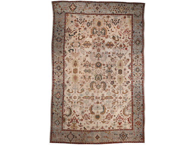 A Mahal carpet  Central Persia size approximately 12ft. 6in. x 18ft. 7in.