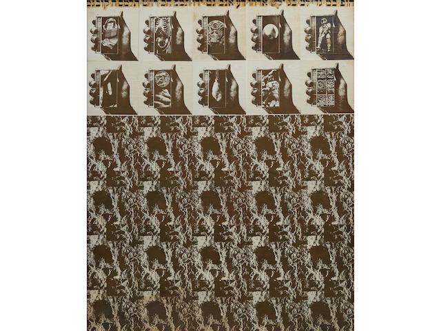 Wallace Berman (1926-1976) Untitled, circa 1968 37 1/4 x 32 7/8 in. (94.6 x 83.5 cm)