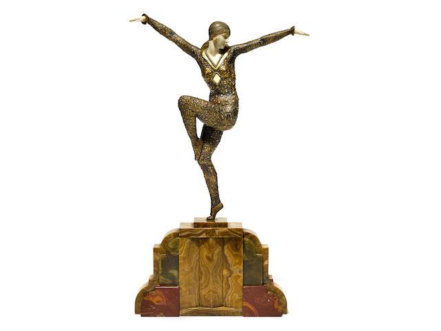 Demetre Chiparus (Romanian, 1886-1947) Dancer of Kapurthala, circa 1925