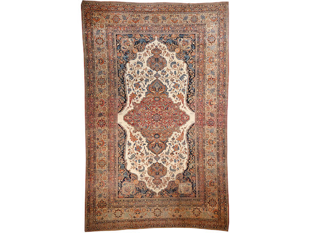 A Hadji Jalili Tabriz carpet  Northwest Persia size approximately 9ft. 9in. x 15ft. 4in.