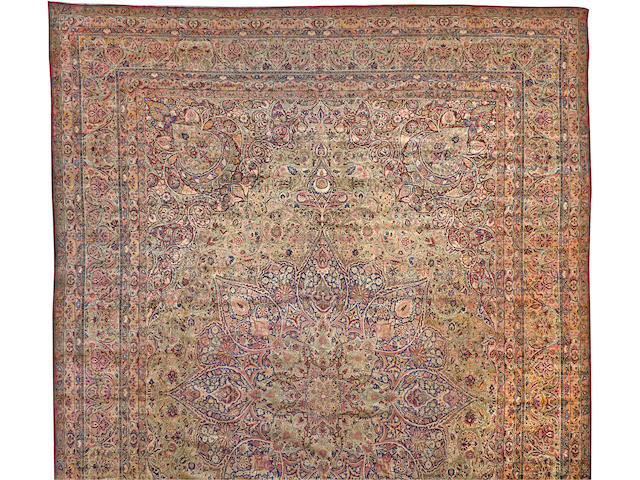 A Lavar Kerman Carpet  South Central Persia size approximately 17ft. 4in. x 26ft.