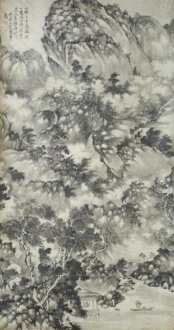 Shangguan Zhou (1665-c. 1750) Stormy landscape
